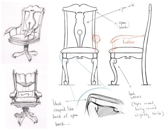 Orthographic Chair Drawing Chair Chair Design