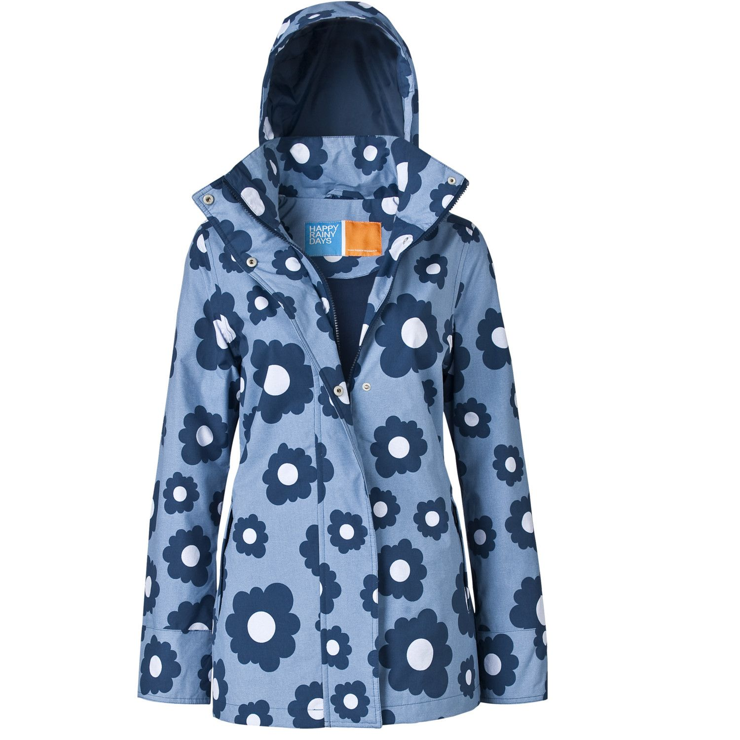 Rainfrog - women | rain jackets with hoods | denim fleur xs & s ...