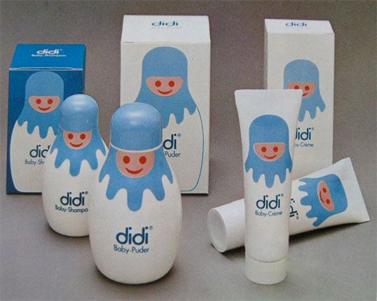 Vintage baby product packaging 1974