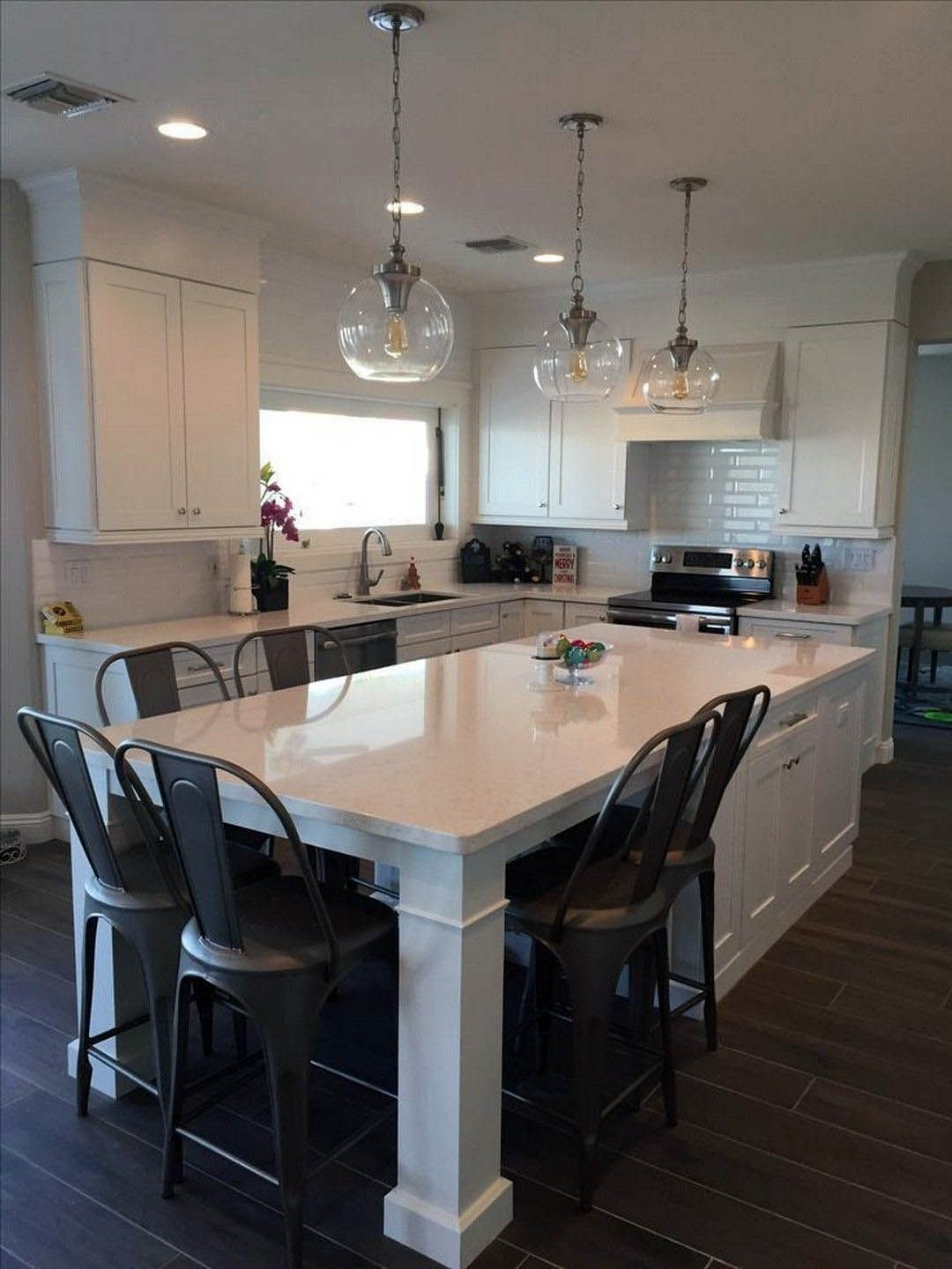 Top 2 Level Kitchen Island With Seating Only In Indoneso Design Modern Kitchen Island Design Kitchen Remodel Small Modern Kitchen Island