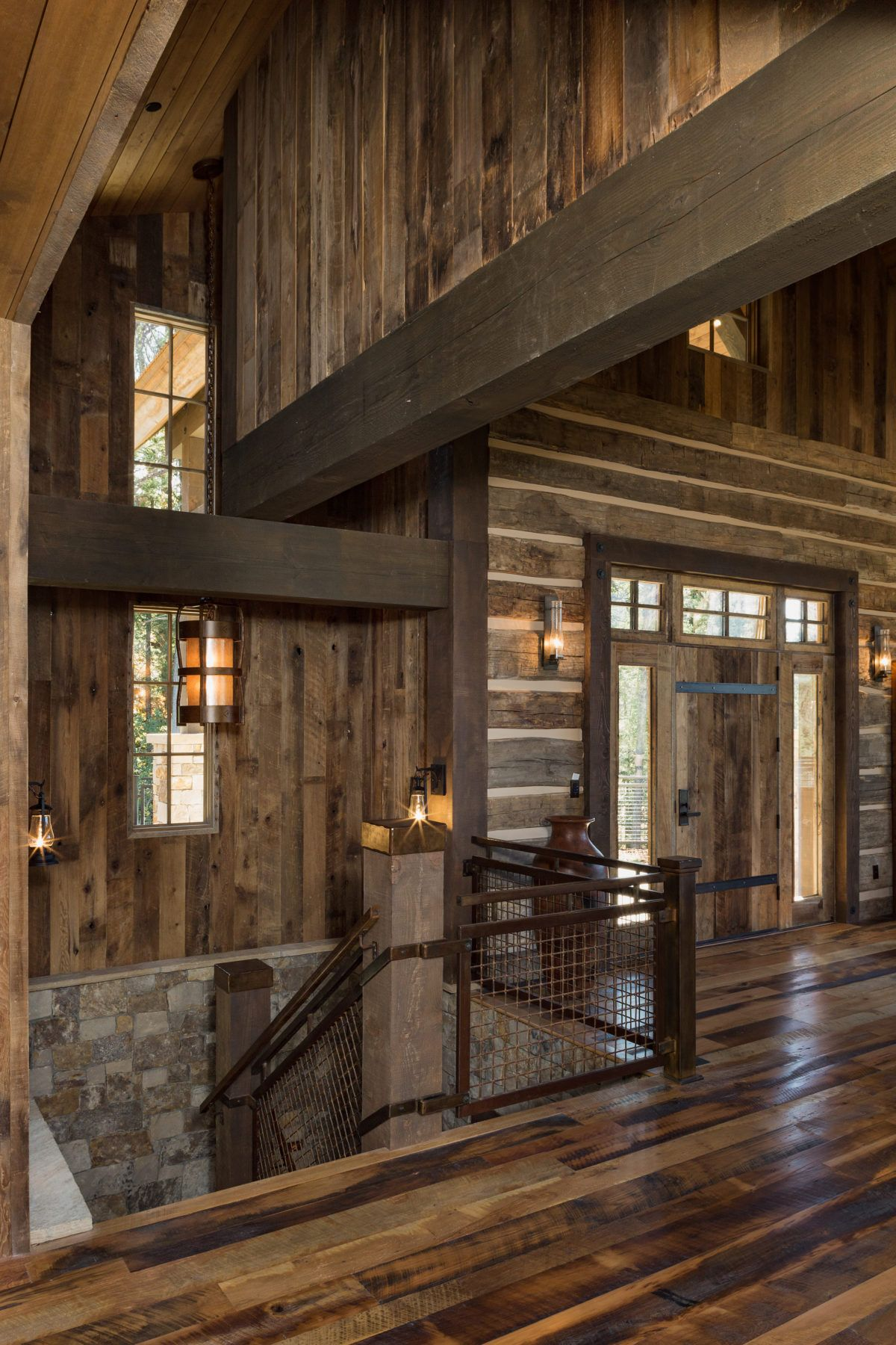 Cliffside Mining Style Home Photo Gallery | Ranch house ...