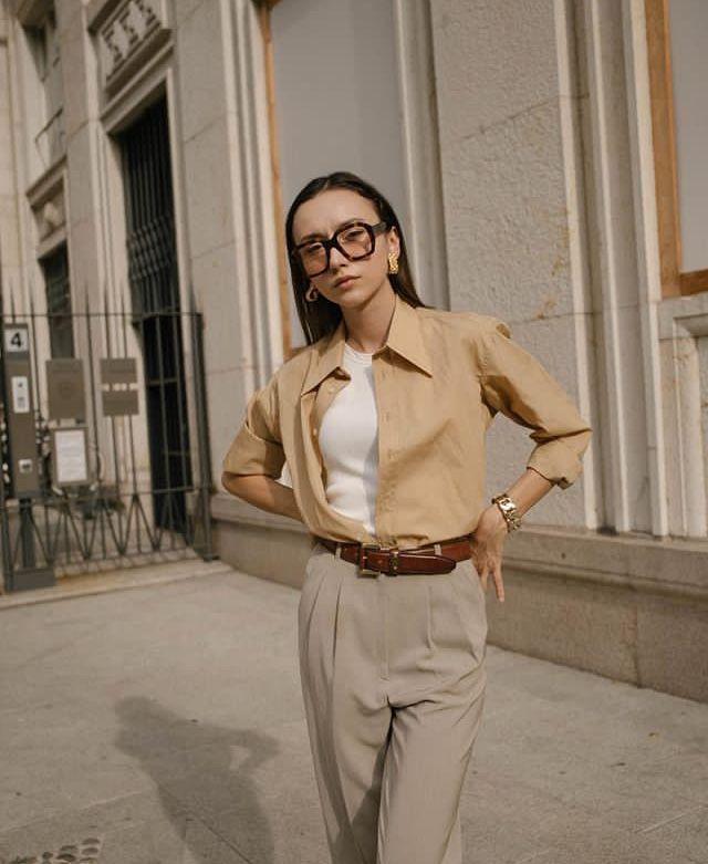 Beatrice Gutu Leather: Fashion, Khaki Slacks, T Shirt, Jeans