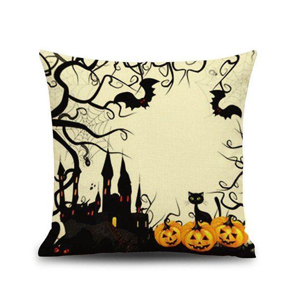 Home Decor Halloween Design Linen Pillow Case Halloween themes - halloween decorations for your car