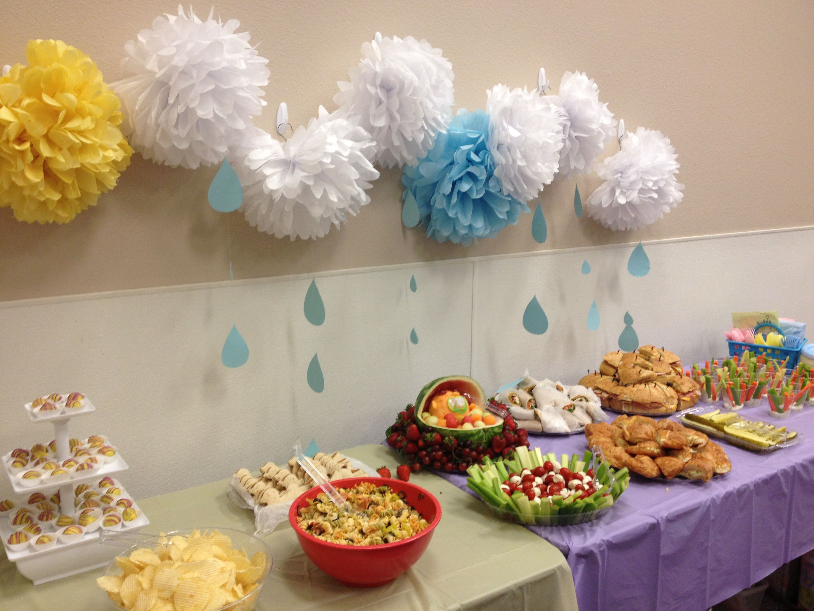 Baby Shower Buffet Table