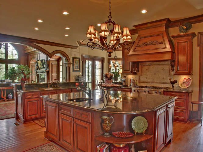 Beautiful Kitchen Offers High End Bosch Dishwasers, Monogram Burner Viking Stove,  Double Viking Ovens And Warming Drawer. Very Large Black Galaxy Granite  Island With ...