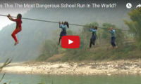 Is This The Most Dangerous School Run In The World? Wow. And we complain about snow days… While adrenaline junkies around the world spend thousands on death-defying adventures, the schoolchildren of Dhaing village in Nepal have no choice but to face down danger on a daily basis...