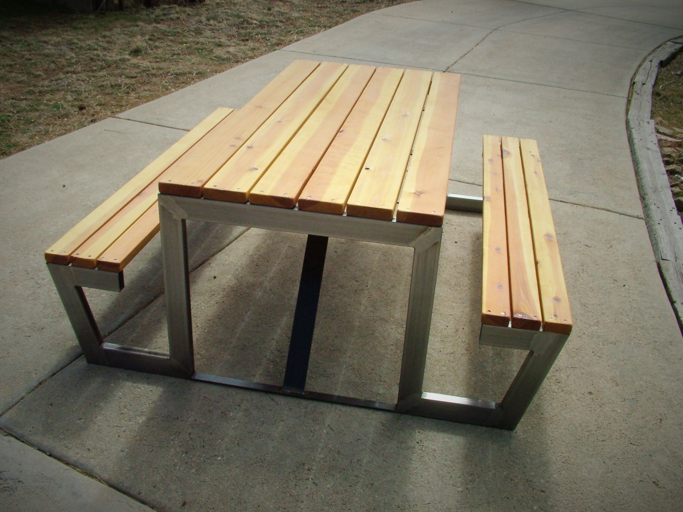 Modern Picnic Table PICNIC TABLE Pinterest Picnic Tables - Modern picnic table plans