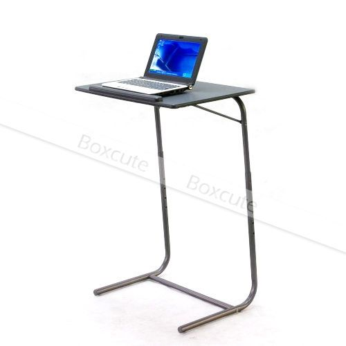 Black Portable Folding Laptop Table Stand Desk Bed Sofa Support Modern Furniture | eBay
