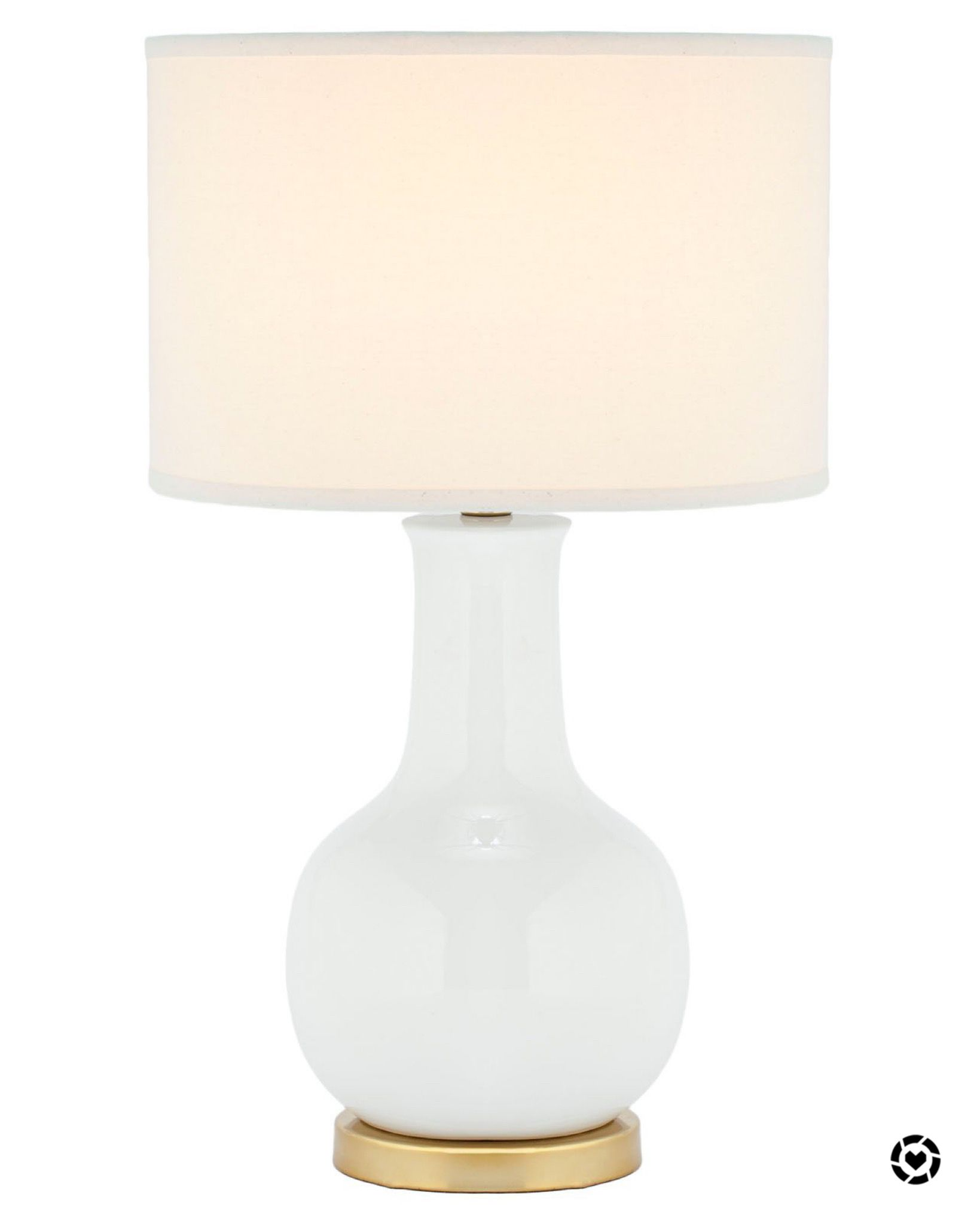 Classic White Lamp With Gold Base Lamp Table Lamp Safavieh Lamps