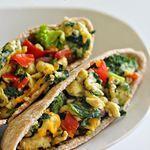 Tone & Tighten: Scrambled Egg and Vegetable Pita Pockets Recipe