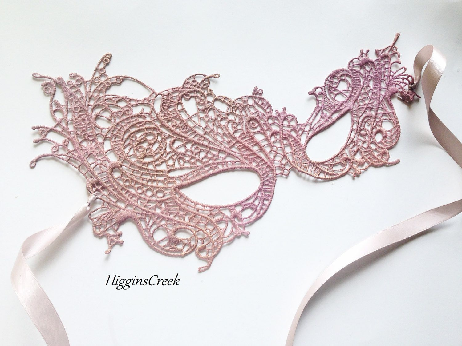 Masquerade mask masquerade mask vine mask metal lace masquerade - Blush Pink Lace Masquerade Mask For Women Studded With Rhinestones Custom Masquerade Mask In All Colors And Embellishing