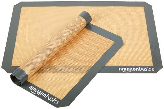 Amazonbasics Silicone Baking Mat 2 Pack Kitchen Dining Only 13 79 1 Best Seller With This Two Pack Set Silicone Baking Silicone Baking Mat Baking Mats