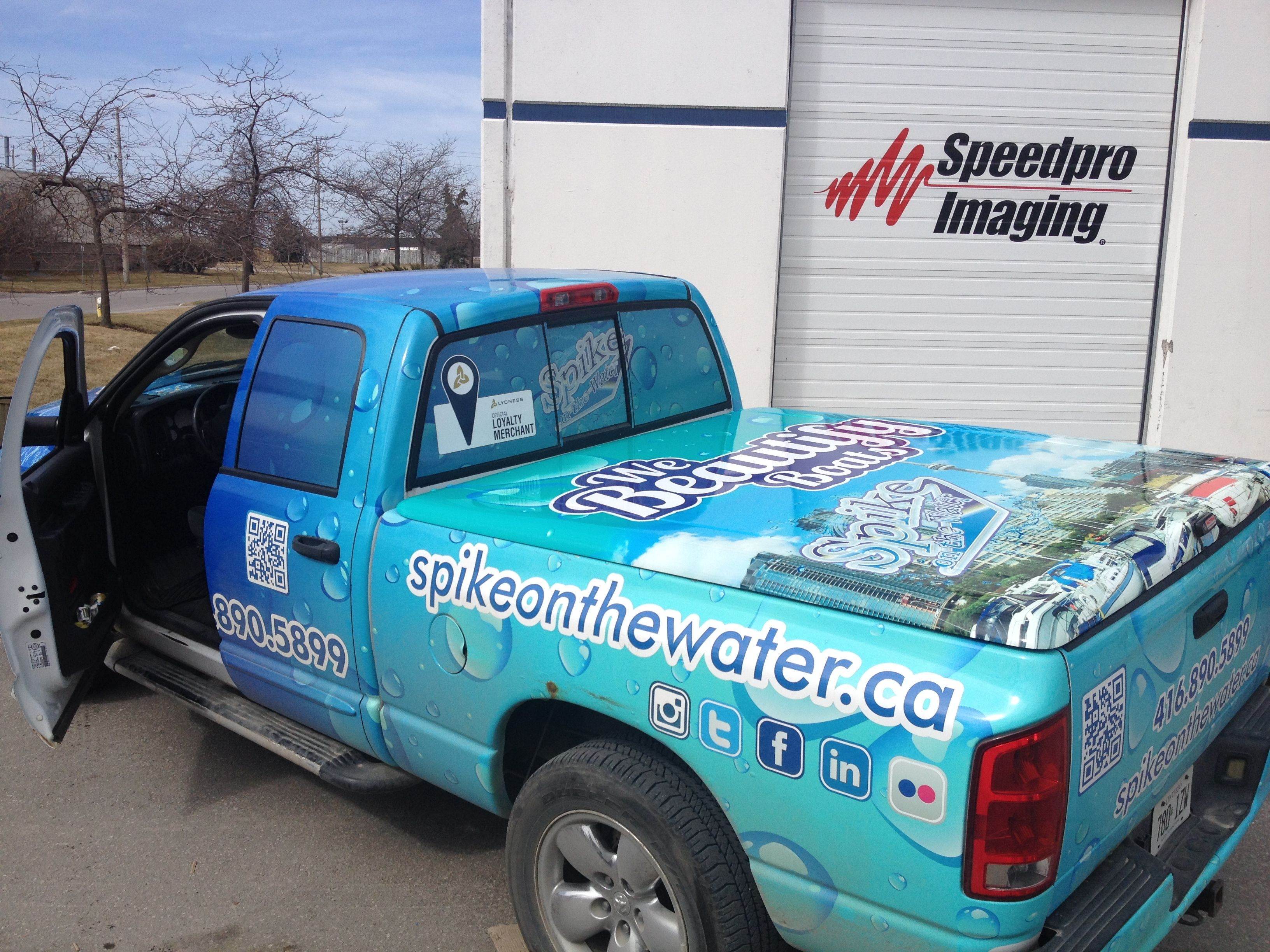 Sweeeeet digital print tonneau cover wrap completed today