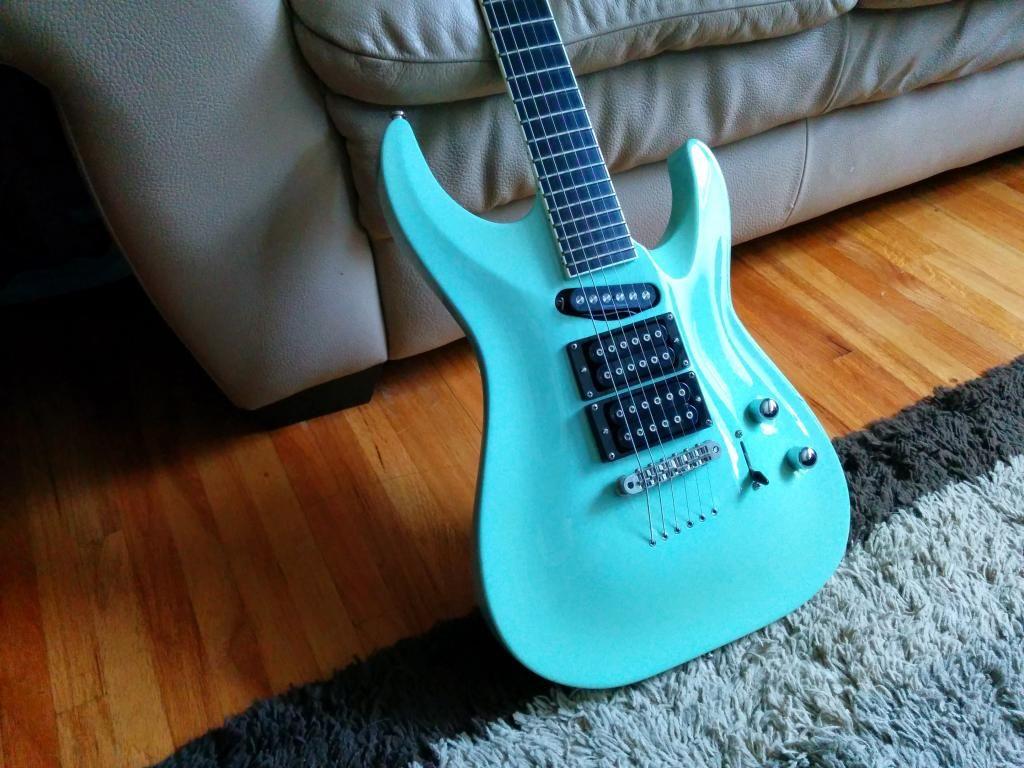sonic blue esp src6 sonic blue 6 string guitars guitar music instruments. Black Bedroom Furniture Sets. Home Design Ideas