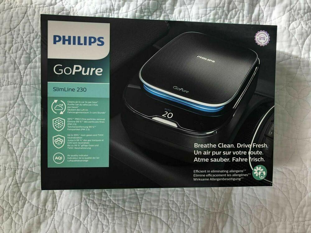 NEW PHILIPS GPSL23GPX1 Air Purifier Automotive GoPure Slimline 230 #Philips