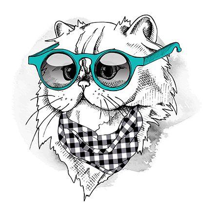 Vectores Animals Cat Portrait Eps 100 Gratis 100 Ve Dibujos Disenos De Unas Ilustraciones