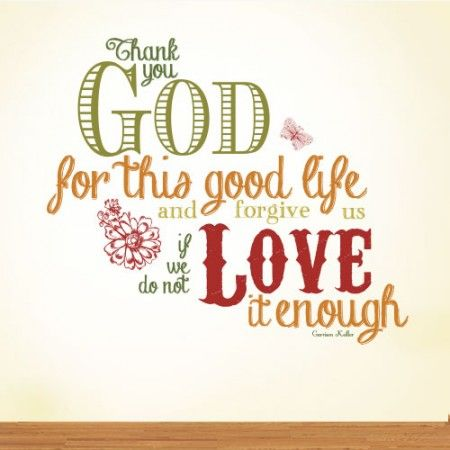 Thank You God Quotes Thank You God For This Good Life Religious Wall Decal  Quotes .
