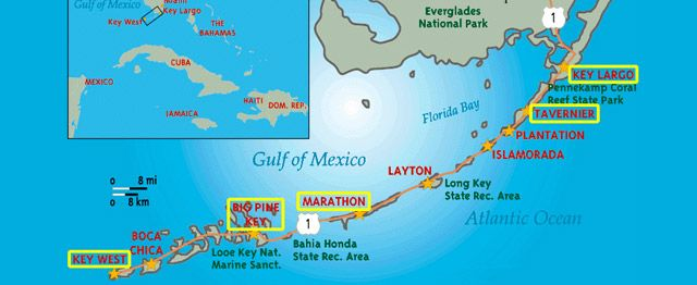 Map Of The Keys Florida.Marathon Key Florida Map Catholic Church Marathon Florida