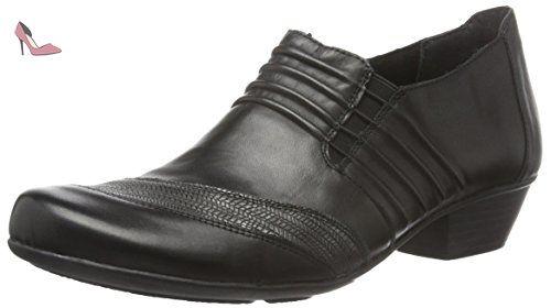 Remonte D7325, Escarpins Femme, Noir (Schwarz/Schwarz-Silber/Schwarz / 01), 42 EU - Chaussures remonte (*Partner-Link)