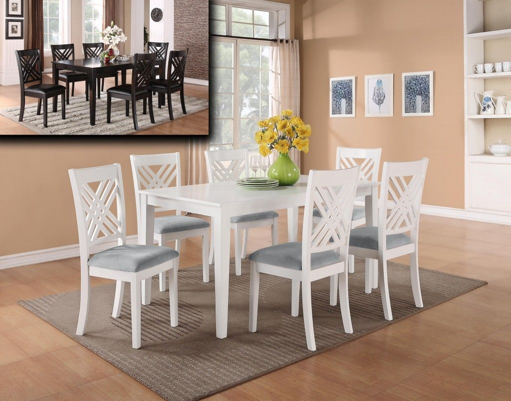 Best Featured Friday Brooklyn 7 Piece Dinette White Dining 400 x 300