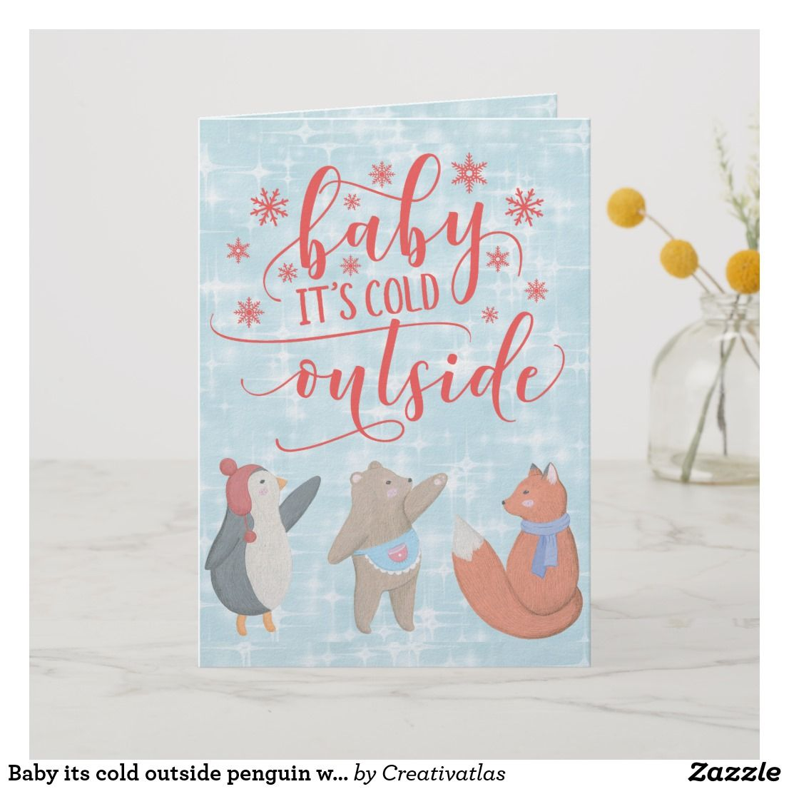 Baby Its Cold Outside Penguin Winter Christmas Card Gift Shop