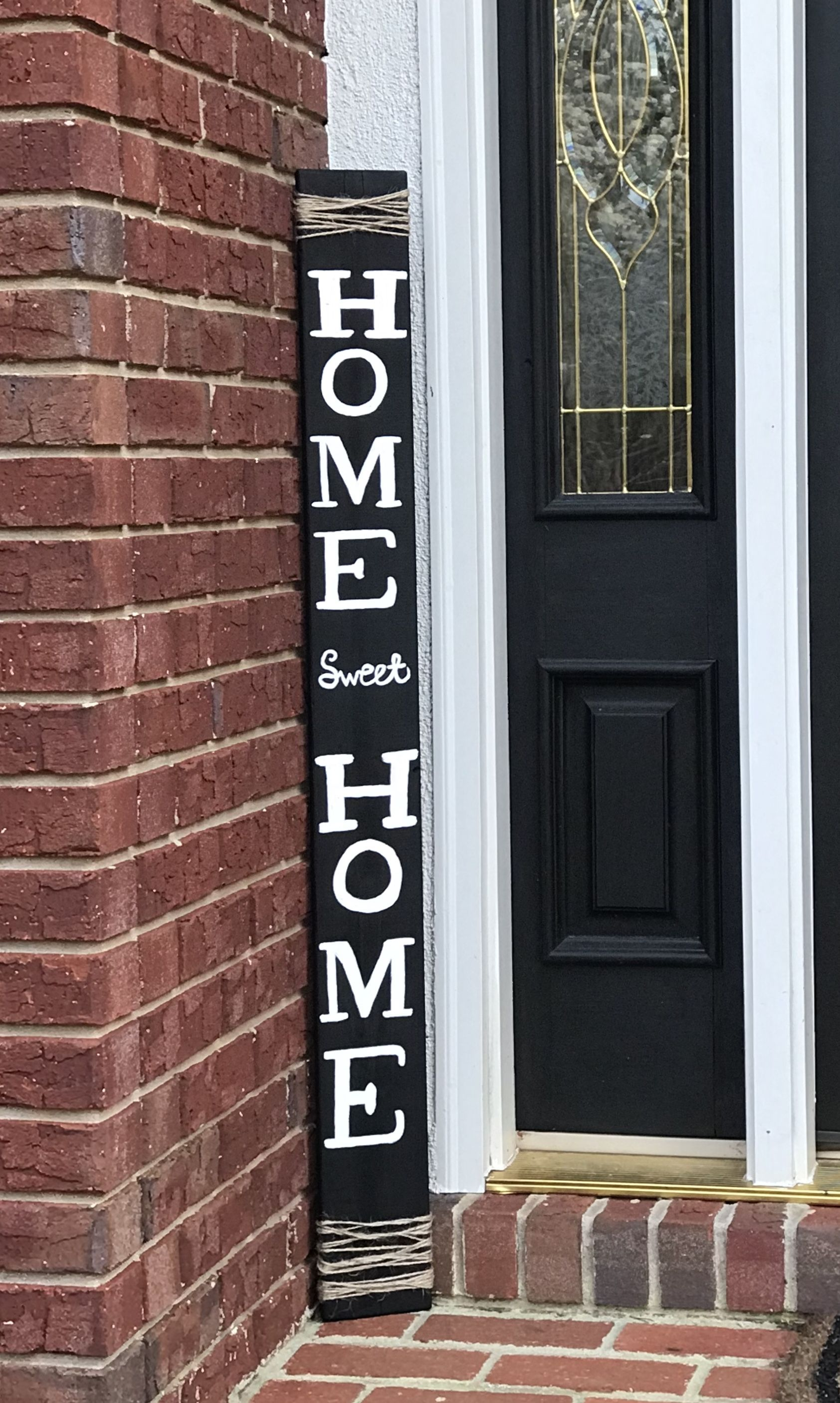 Home Sweet Home Porch Sign Farmhouse Porch Decor Front Back