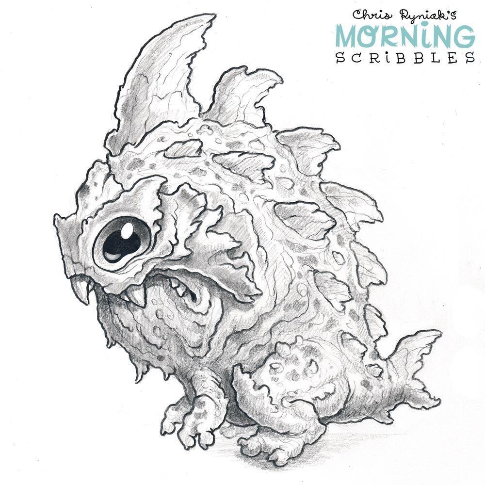 Sharpfish Kaiju Coloring Pages Monster Drawing