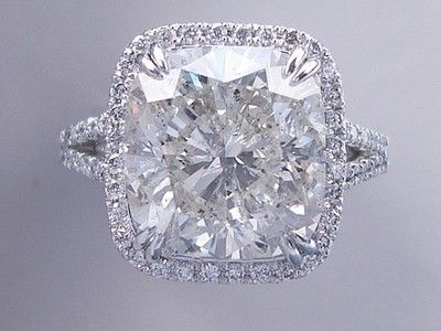 833 Carats Ct Tw Cushion Cut Diamond Engagement Ring H I