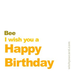 Happy Birthday, Bee!