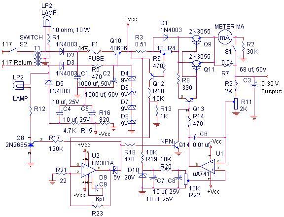 0 30 Volt Laboratory Power Supply Uydudoktoru 2020 Elektronik Guc