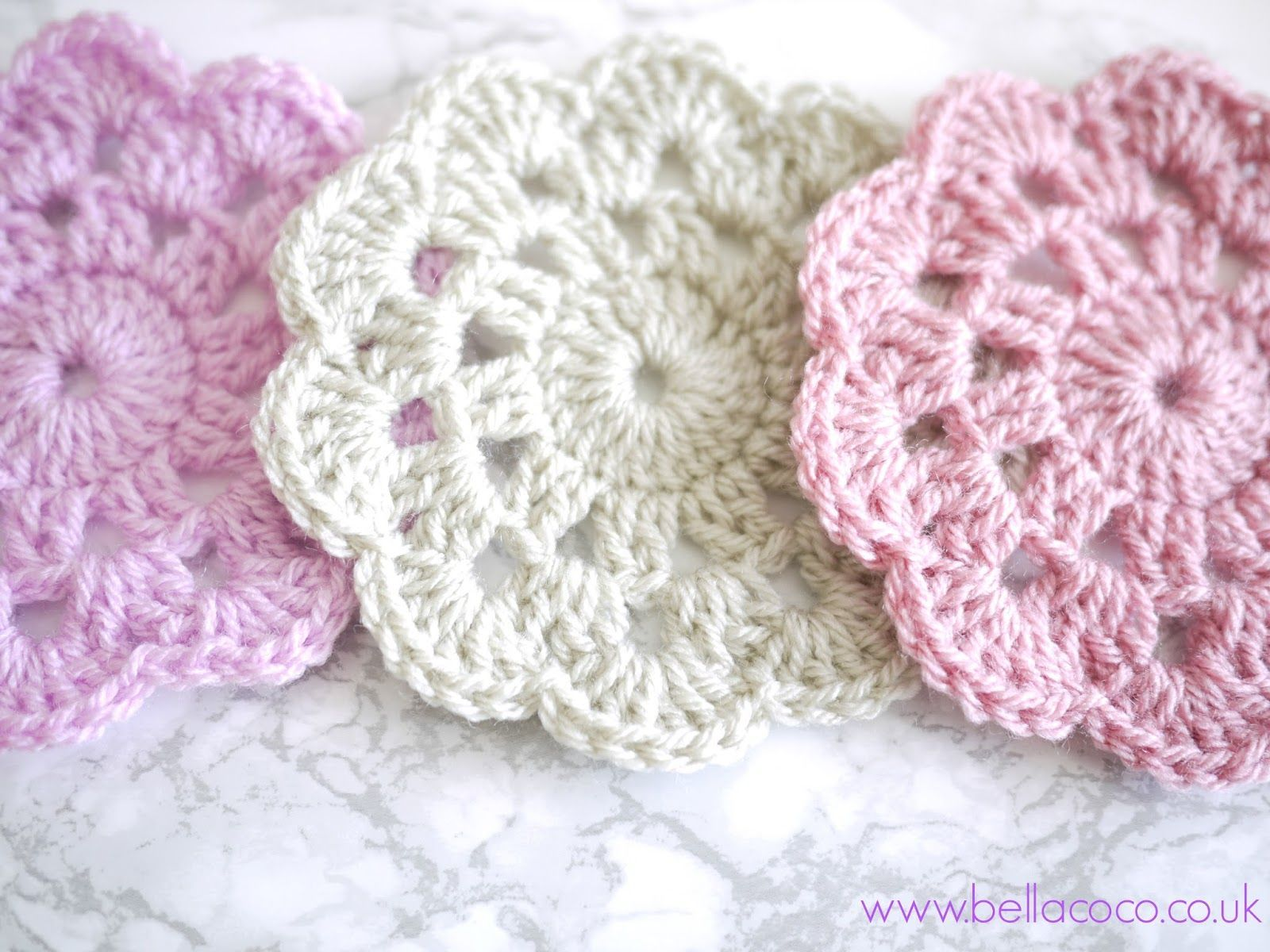 Crochet coasters free pattern | Bella Coco | tığ işi | Pinterest