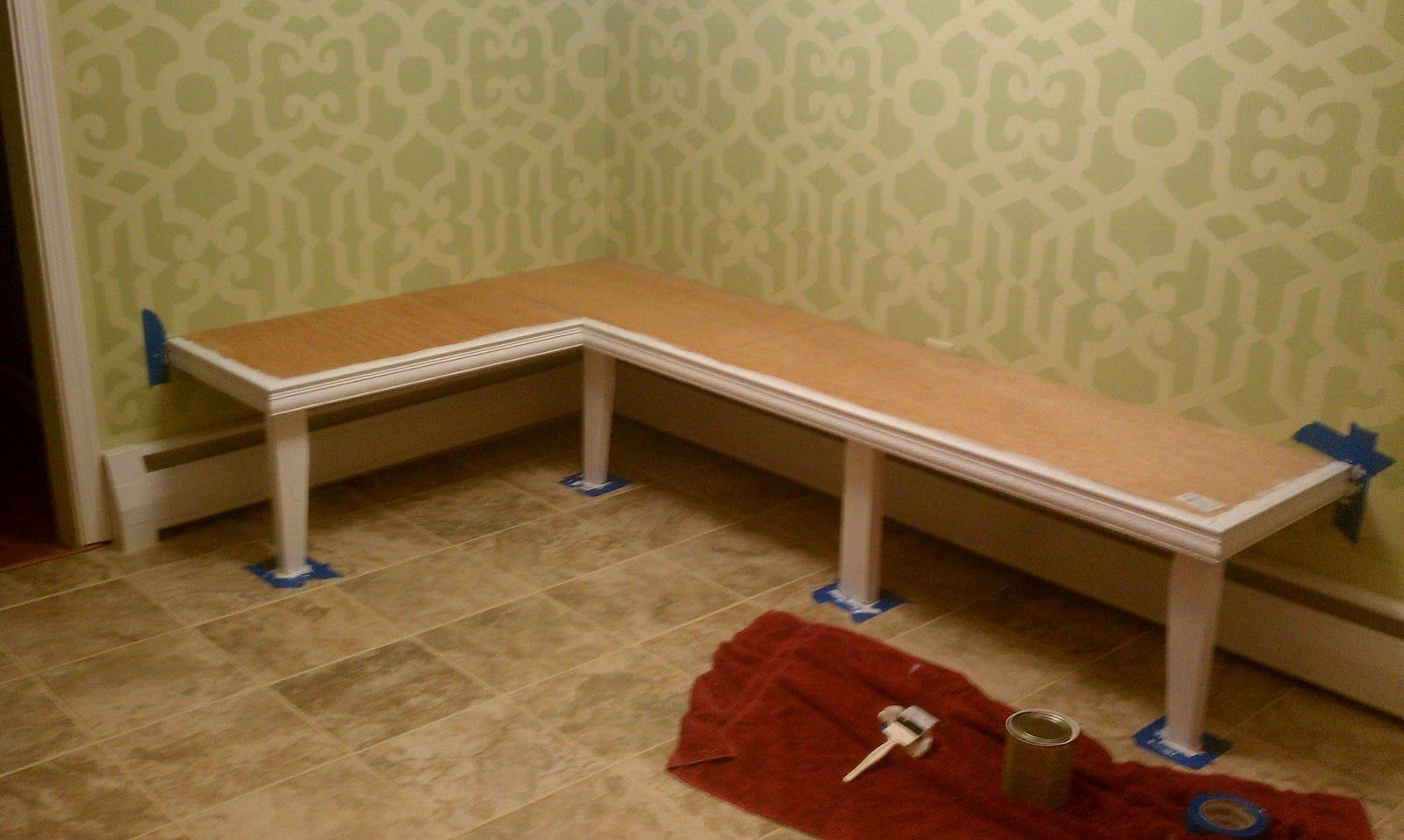 My Diy Kitchen Banquette Banquette Seating In Kitchen