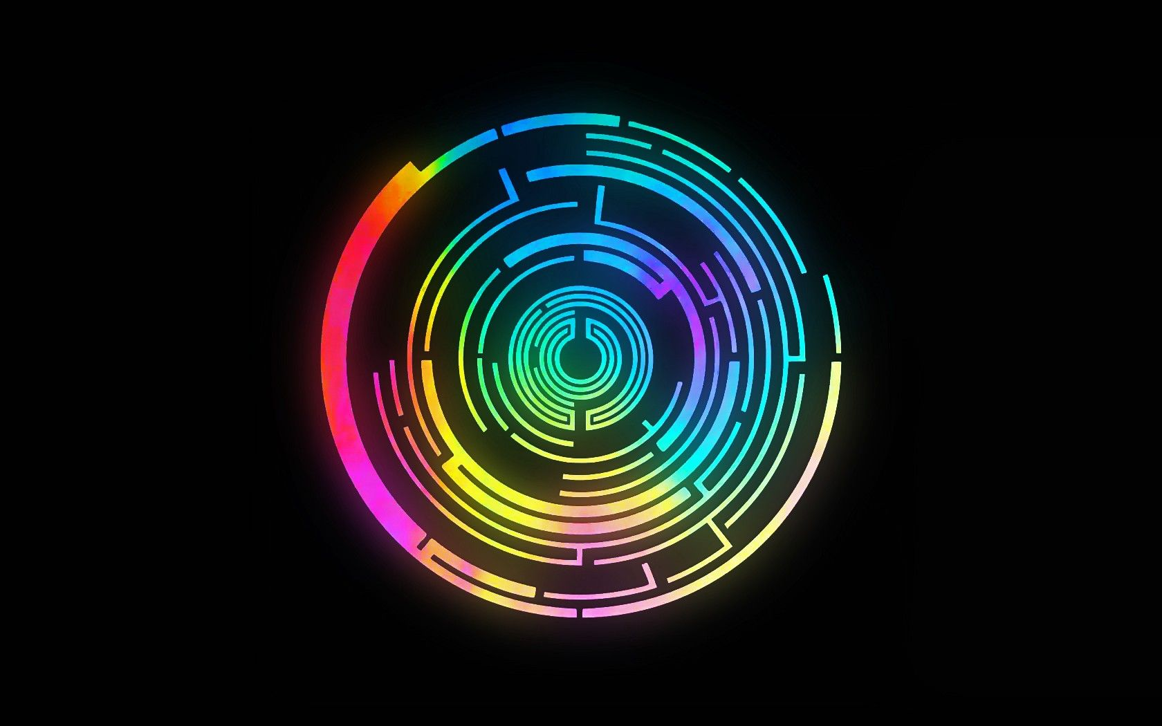 Circle Abstract Pendulum Black Background Music Colorful