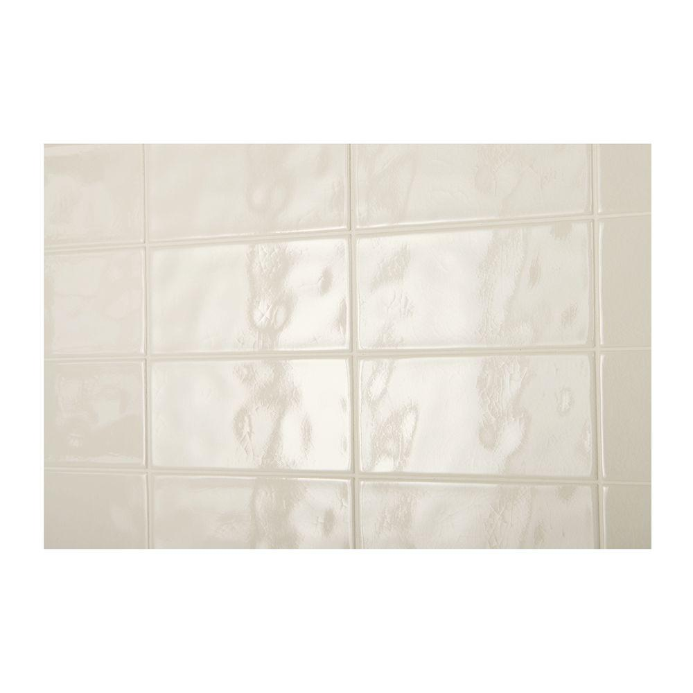 Daltile structured effects crackled pearl 3 in x 6 in glazed daltile structured effects crackled pearl 3 in x 6 in glazed ceramic wall tile dailygadgetfo Gallery