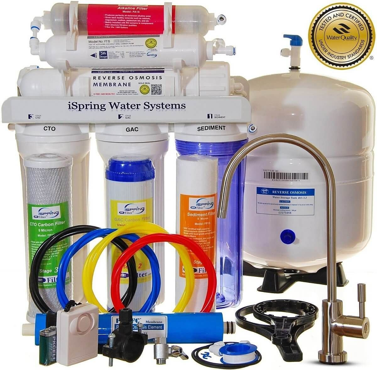 Ispring Rcc7ak Review Reverse Osmosis Water Filter Best Reverse Osmosis System Water Filters System