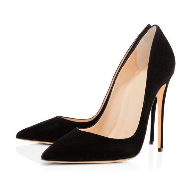 AIWEIYi Shoes Women Pointed Toe Stiletto High Heels Pumps Spring Autumn Ladies  High Heels Shoes Black Dress Party Platform Pumps cff28832a867