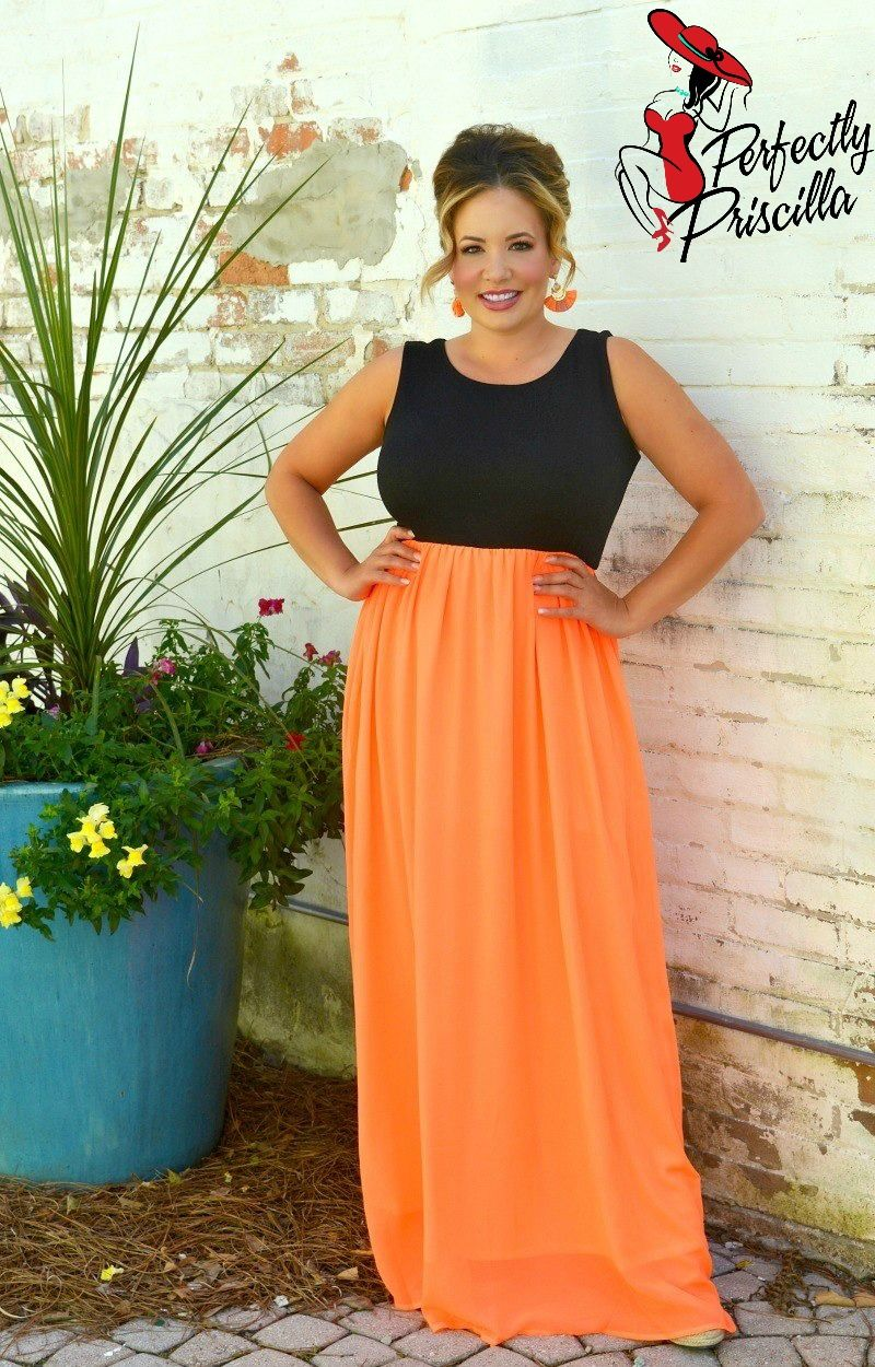 On Target Maxi Dress - Black/Neon Coral in 2019 | 2019 Spring ...