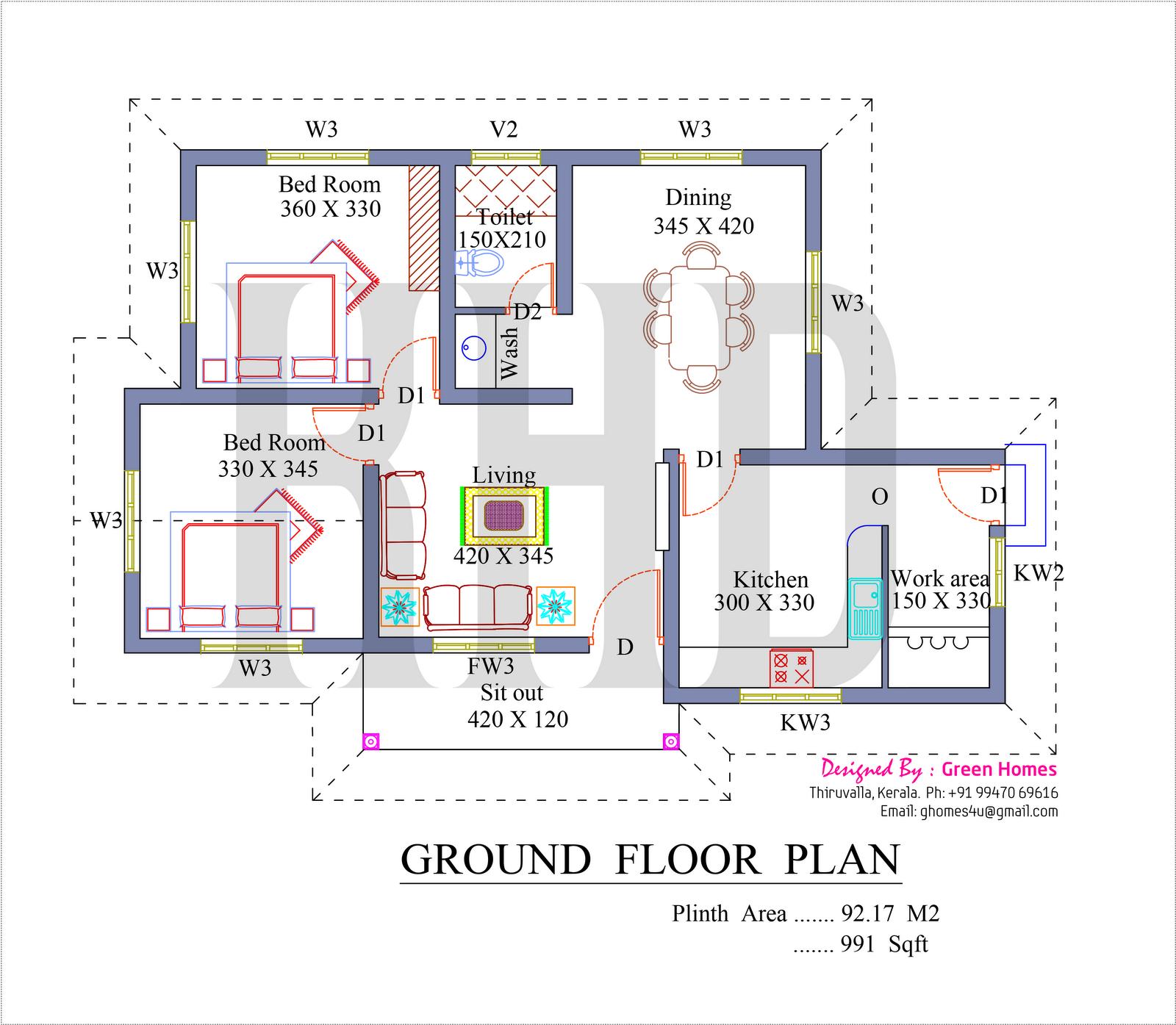 Kerala home plans sq feet also dinesh house design rh pinterest