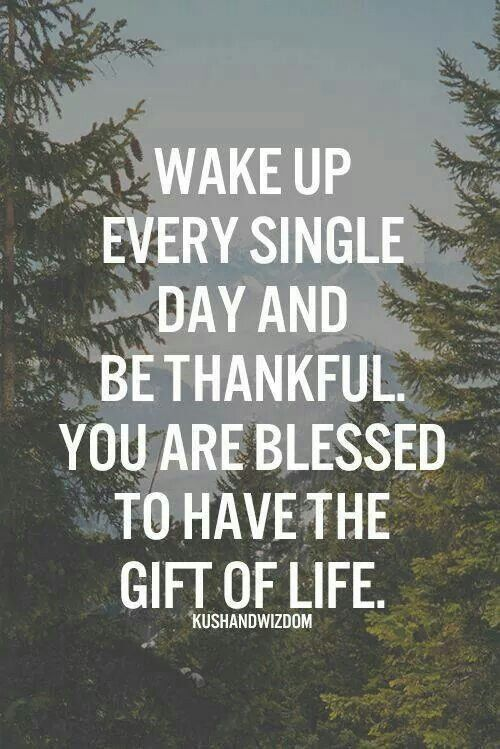 Wake Up Every Single Day And Be Thankful You Are Blessed To Have The Gift Of Life Inspirational Quotes Pictures Morning Love Quotes Morning Quotes