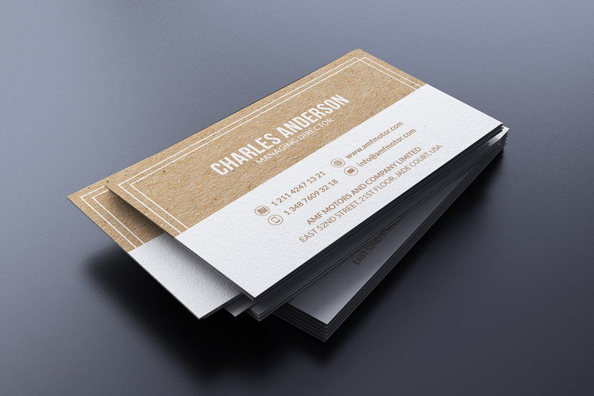 Simple Kraft Business Card Kraft Business Cards Unique Business Cards Cool Business Cards