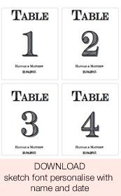 graphic about Free Printable Wedding Table Numbers known as No cost Down load: Printable Wedding day Desk Figures Template For