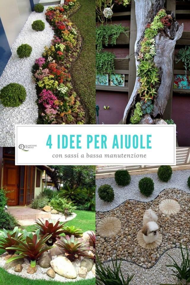 4 idee per realizzare aiuole con sassi a bassa manutenzione qual la tua preferita visita il - Decorazioni per giardini ...
