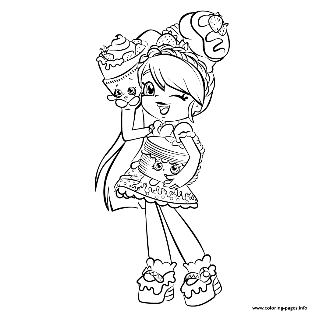 Shopkins coloring pages to color online - Print Cute Girl Shopkins Shoppies Coloring Pages