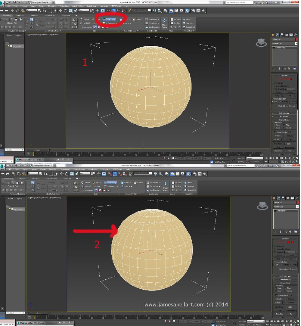 #swiftloop in #3dsMax hold down Ctrl and Shift, this will remove the nearest edge loop. This saves time!