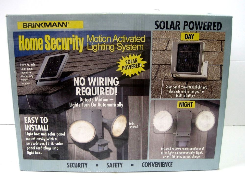 Brinkmann 821 7000 0 Solar Home Security Sl 7 Motion Detector Lighting System Brinkmann Home Security Motion Detector Lighting System