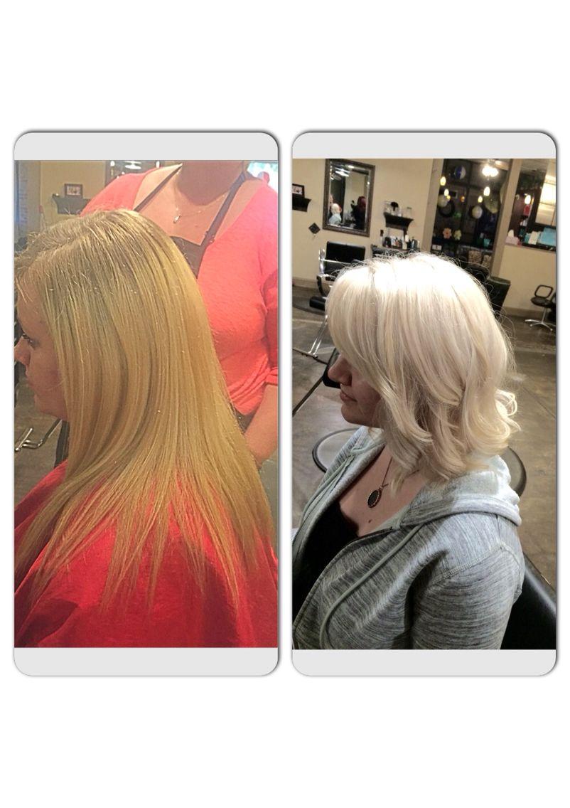 Boring Blonde To Sassy Platinum Platinum Blonde Wella Bleach All