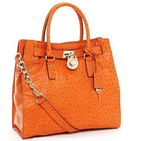 MICHAEL Kors Hamilton Tote in Orange!!   Classic handbags ...