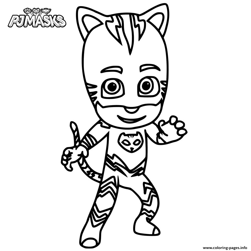 print catboy from pj masks coloring pages kleurplaten en