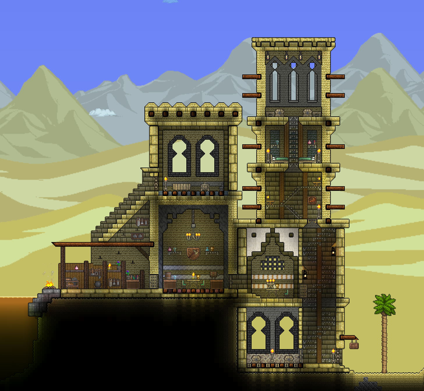Terraria desert outpost terraria gaming and video games for Build a castle home