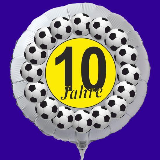 Luftballon Aus Folie Zum 10 Geburtstag Fussball Mit Ballongas